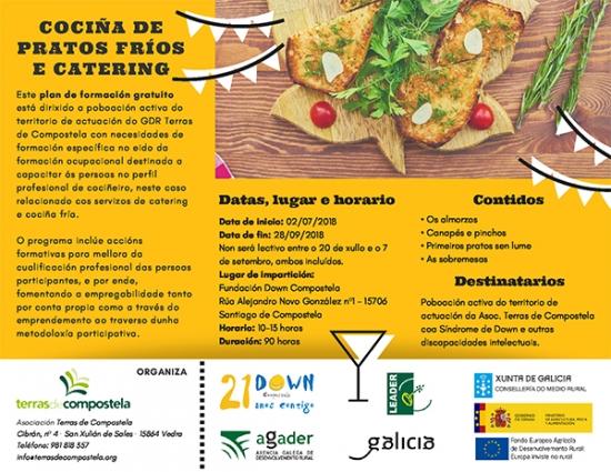 Mozos e mozas de Down Compostela fórmanse nun curso de cociña fría e catering